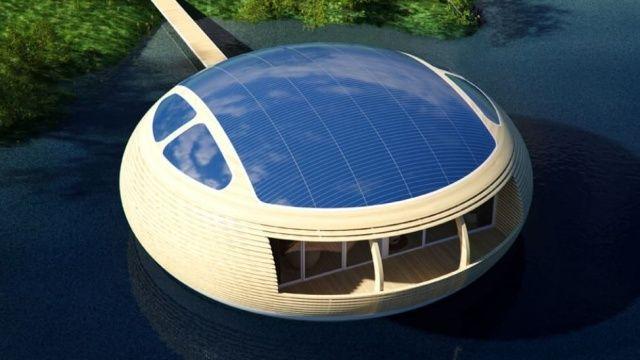 Waternest, casa galleggiante ed ecosostenibile della EcoFloLife