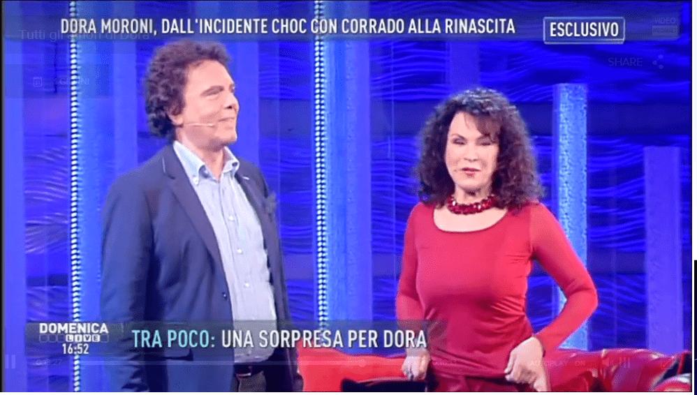 Dora Moroni a 'Domenica Live': dopo l'incidente torna a cantare con l'ex marito Christian