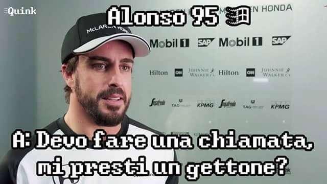 Fernando Alonso perde la memoria e diventa un meme