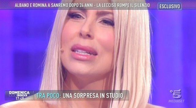Loredana Lecciso a Domenica Live: 'Io e Albano ci baciamo ancora? Certo, siamo amici'