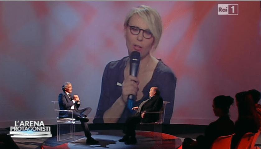 Maria De Filippi e Maurizio Costanzo a L'Arena: Giletti-intervista per la coppia