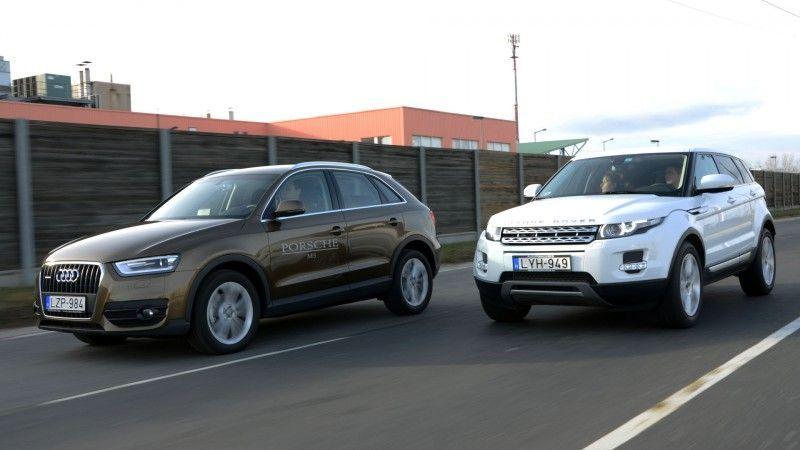 Audi Q3 vs Range Rover Evoque, caratteristiche dei due SUV a confronto
