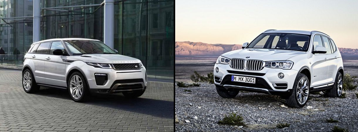 BMW X3 vs Range Rover Evoque