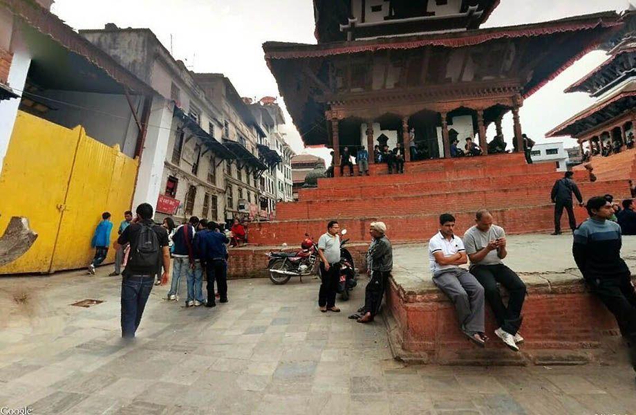 Il tempio Trailokya Mohan Narayan Kathmandu prima