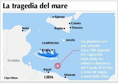 Localizzazione del barcone con a bordo 700 migranti1