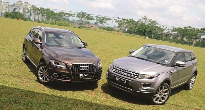 Range Rover Evoque vs Audi Q5, caratteristiche dei SUV a confronto
