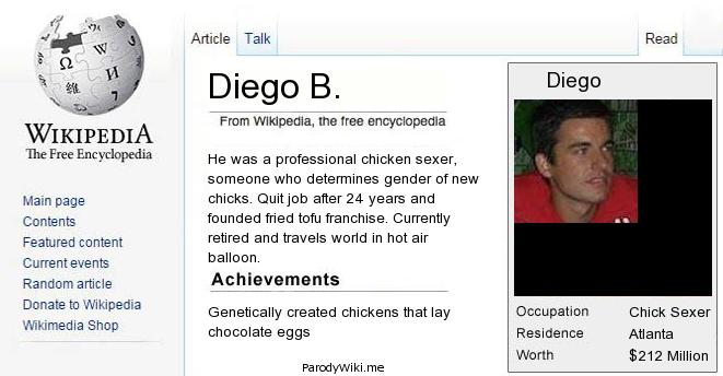 Crea la tua pagina parodia su Wikipedia