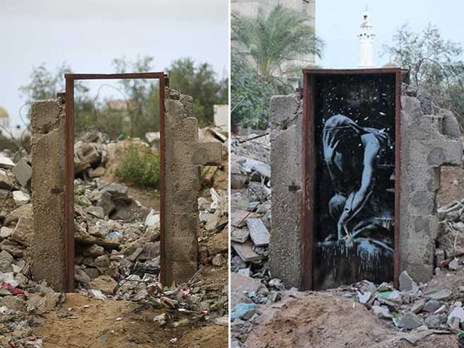 Gaza: graffito di Banksy 'svenduto' per 175 dollari