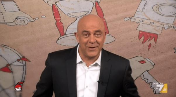 Maurizio Crozza a diMartedì del 28 aprile 2015: 'Renzi fa capricci come Madonna da Fazio'