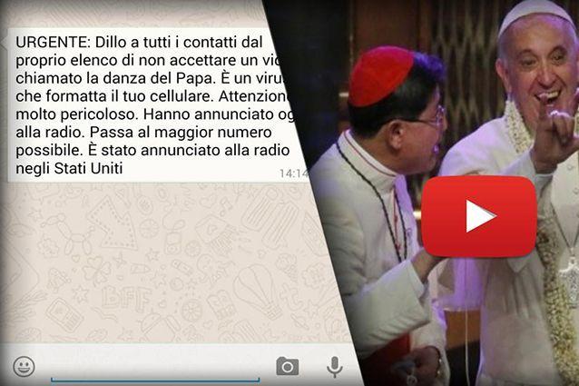 La danza del Papa e il virus su WhatsApp: la nuova bufala