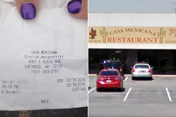 Casa Mexicana scontrino offensivo