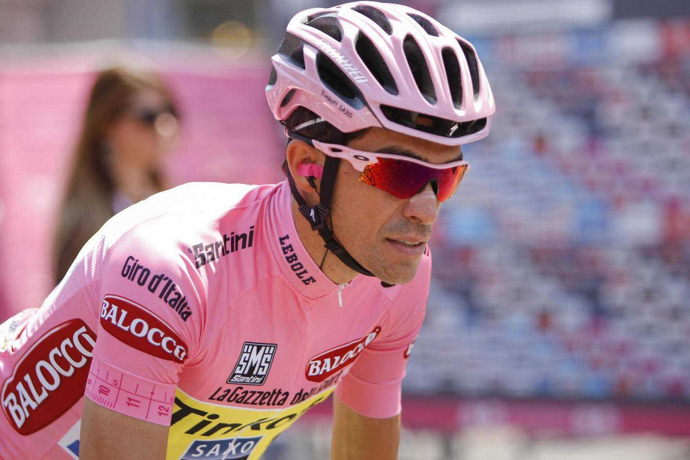 Contador maglia rosa