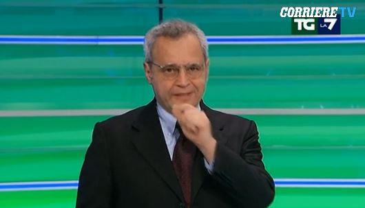Enrico Mentana, nuovo attacco di tosse in diretta tv: è la terza volta in un anno