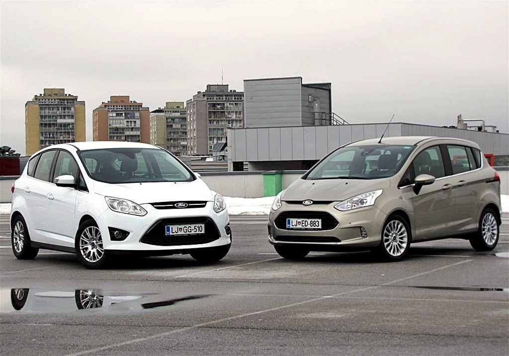 Ford B-Max vs Ford C-Max: confronto tra le due monovolume