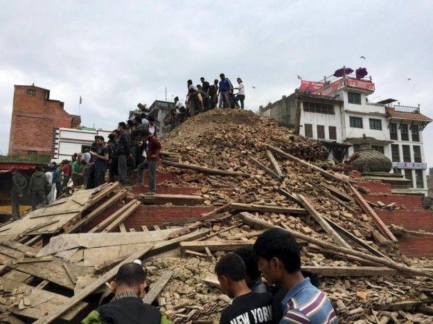 Katmandu distrutta terremoto
