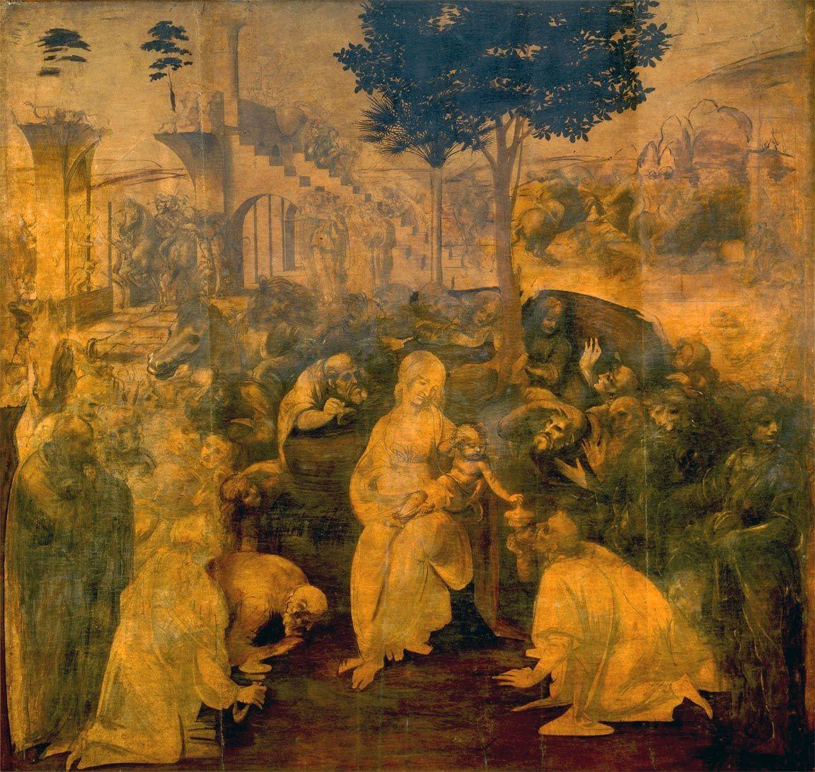 Leonardo Adorazione dei Magi