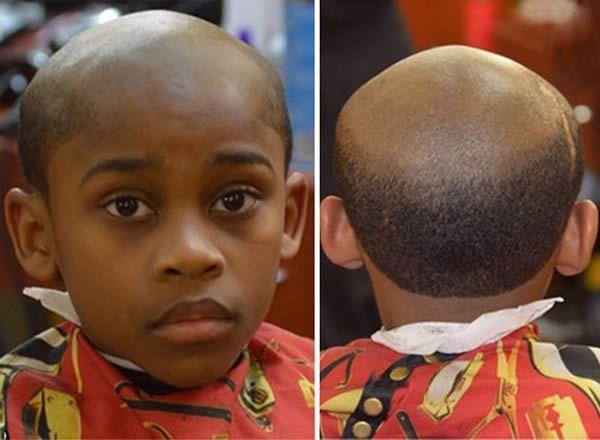 Taglio di capelli da vecchio