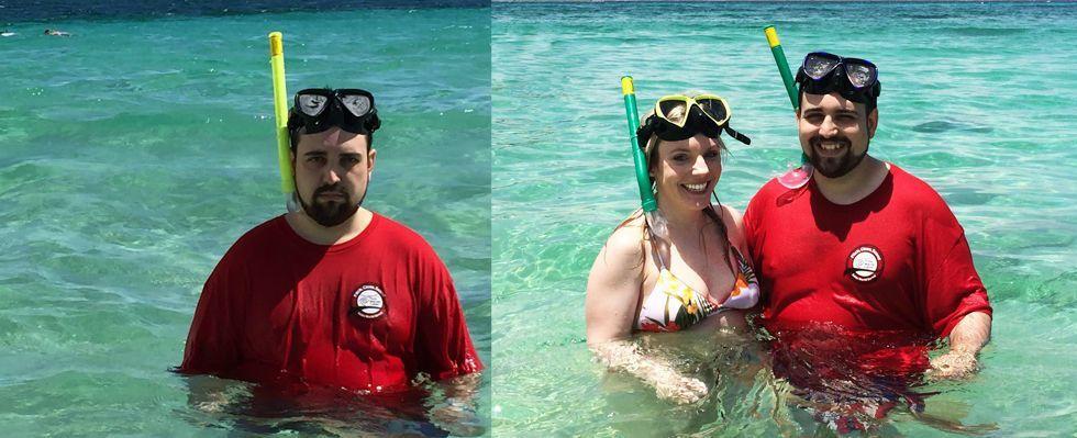 Vince la vacanza a Puerto Rico ma nei selfie è triste perché solo: ora è partito con la moglie, ecco le foto