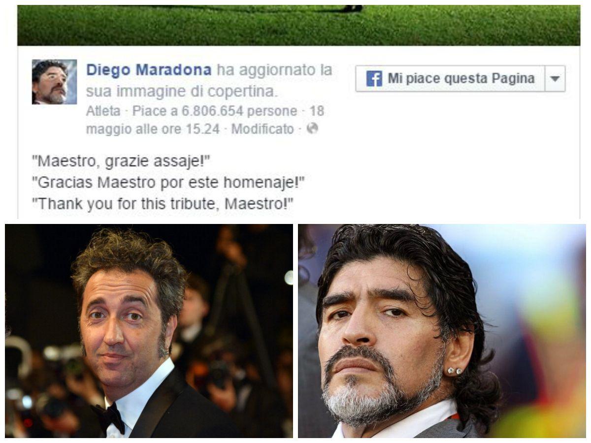 Diego Armando Maradona ringrazia Paolo Sorrentino in napoletano: 'Maestro, grazie assaje'