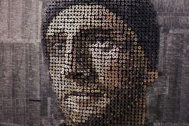 Andrew Myers, l'artista delle viti stupisce con i suoi ritratti