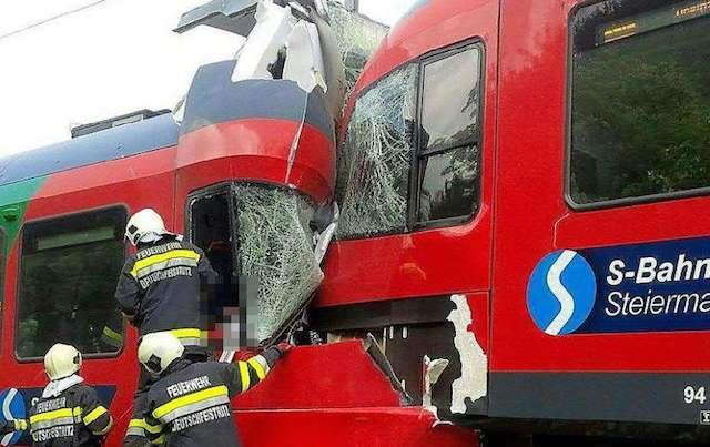 Scontro fra treni in Austria: un morto e numerosi feriti