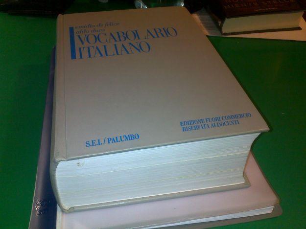 vocabolario lingua italiana