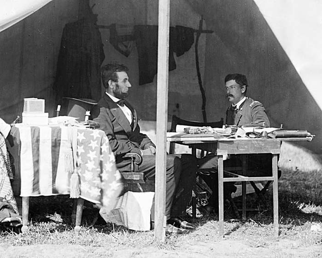 Abraham Lincoln and General George McClellan