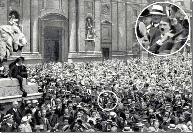 Hitler tra la folla