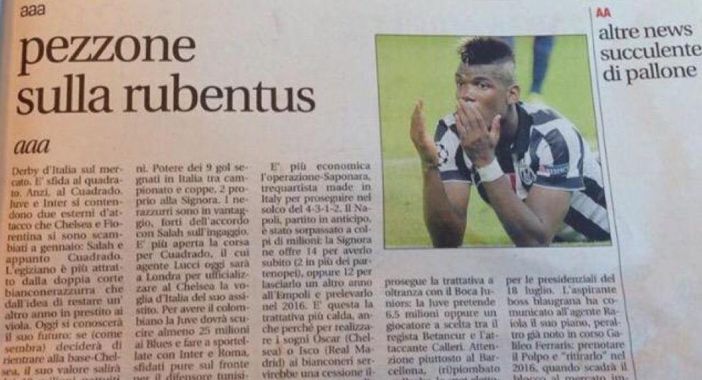 Pezzone sulla Rubentus: clamorosa svisa di Leggo Milano