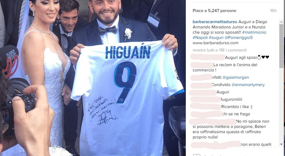 Diego Maradona junior si è sposato: la moglie è Nunzia Pennino
