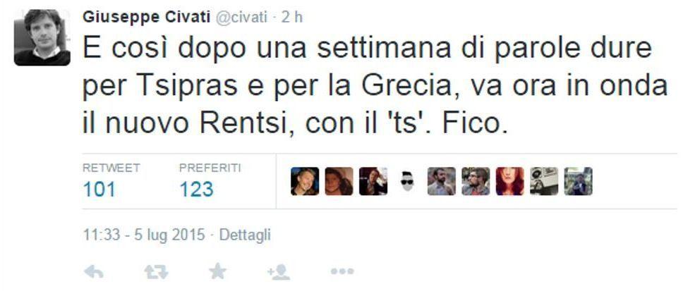 Referendum Grecia 2015: le reazioni social dei politici italiani