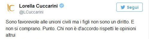 Lorrella Cuccarini su Twitter