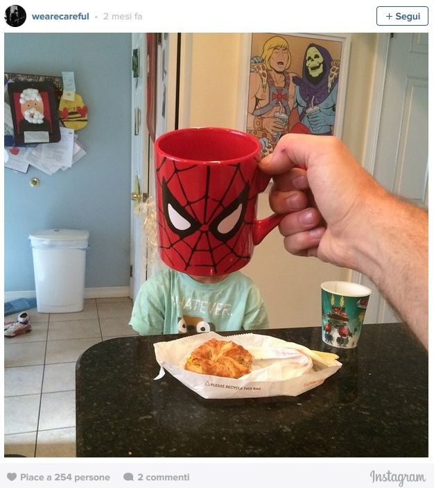 Spiderman con tazza
