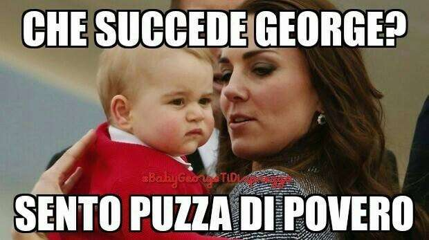 Baby George ti disprezza, il royal baby diventa il nuovo meme-tormentone su Facebook