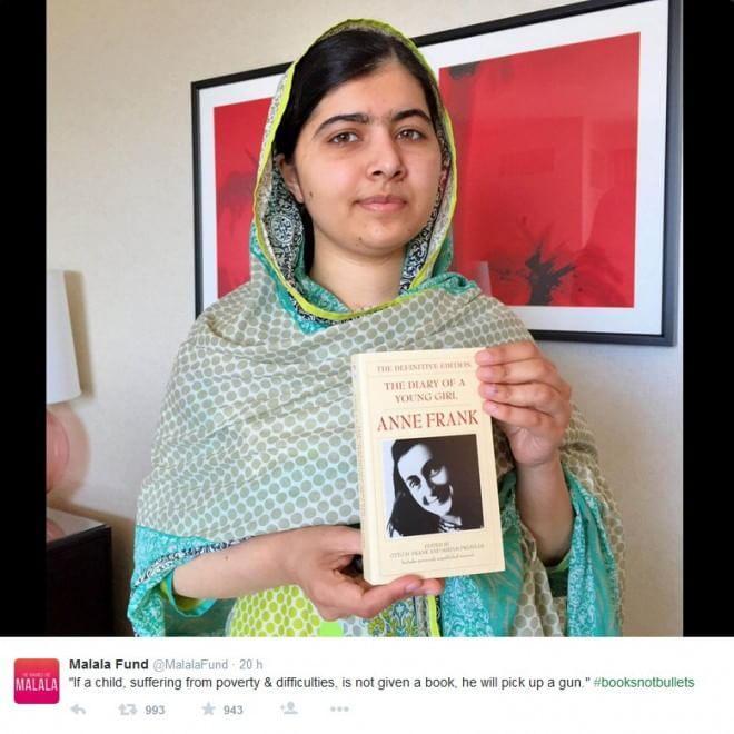 Malala: 'Libri non proiettili' è l'appello social per i suoi 18 anni