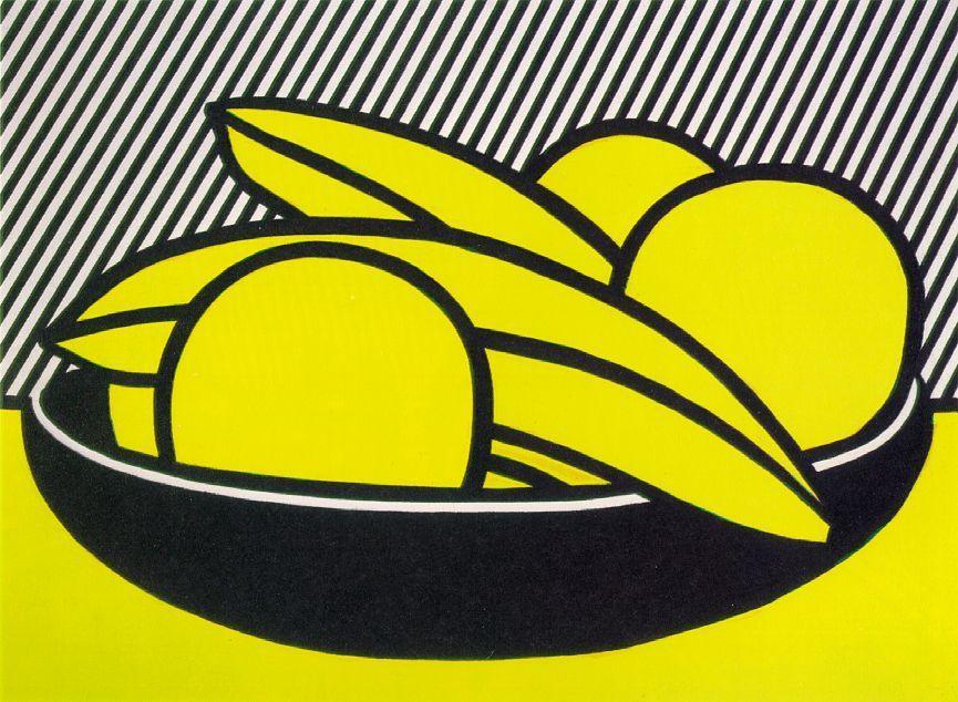 Bananas and Grapefruit Lichtenstein