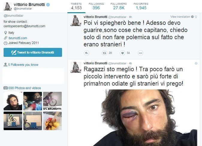 Brumotti su Twitter