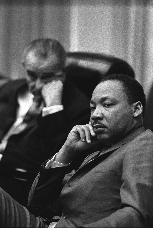 Martin Luther King Jr  and Lyndon Johnson