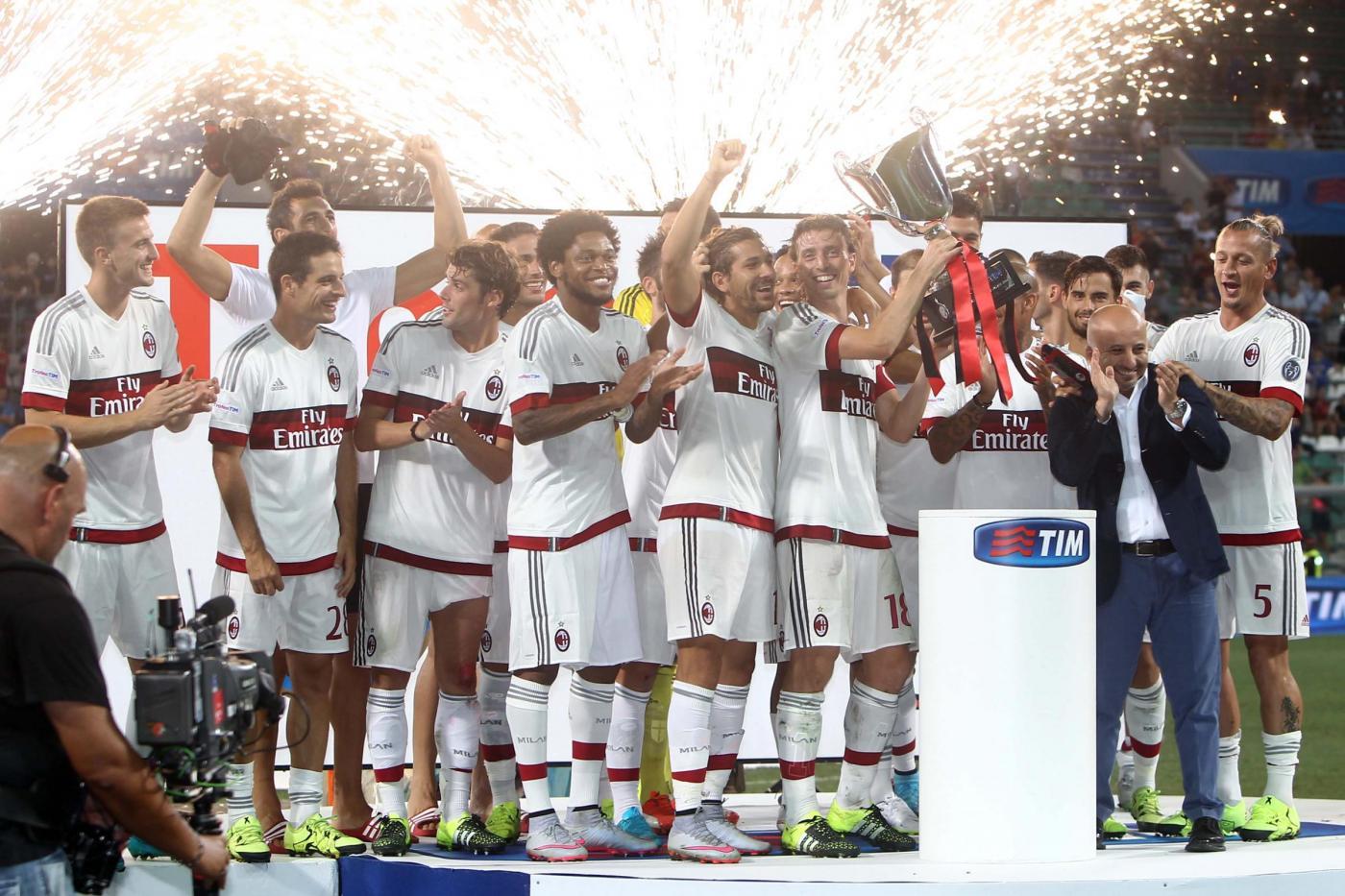 Trofeo TIM 2015 al Milan, secondo il Sassuolo, Inter doppia sconfitta
