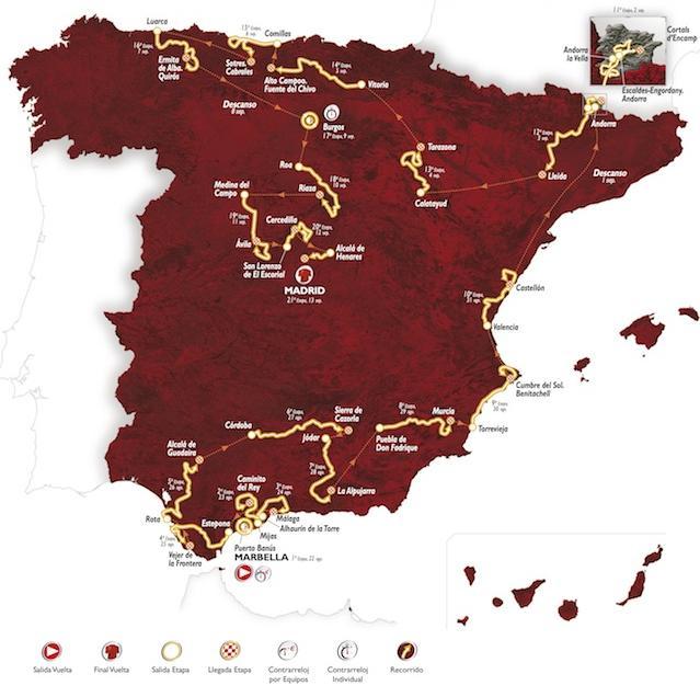 Vuelta 2015 percorso tappe