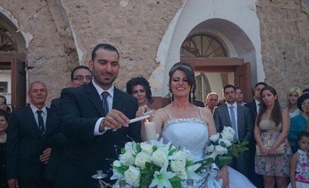 Il matrimonio di Fadi e Rana in una chiesa distrutta in Siria