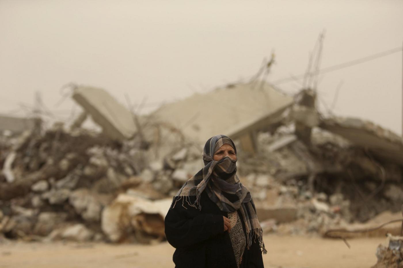 tempesta di sabbia in Medio Oriente