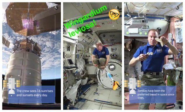 La NASA su Snapchat racconta 24 ore nello spazio
