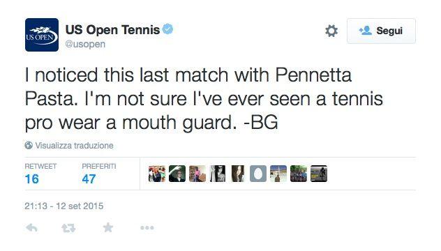 Pennetta Pasta US Open