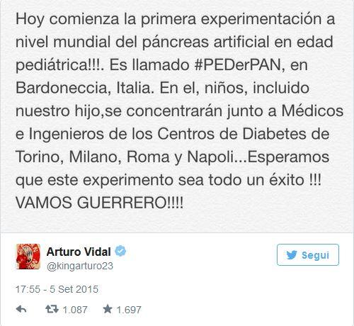 Tweet di Vidal