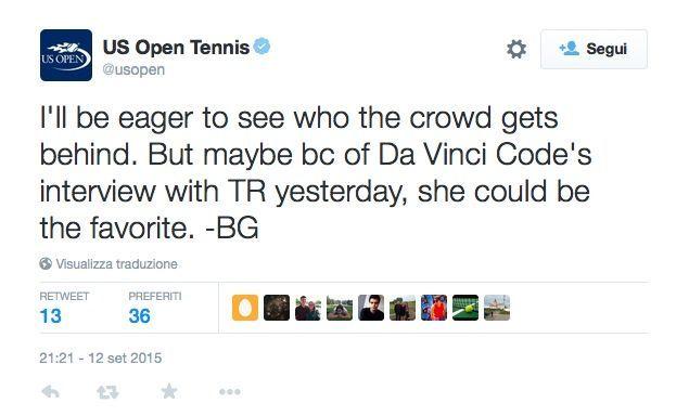 Tweet ridicoli US Open