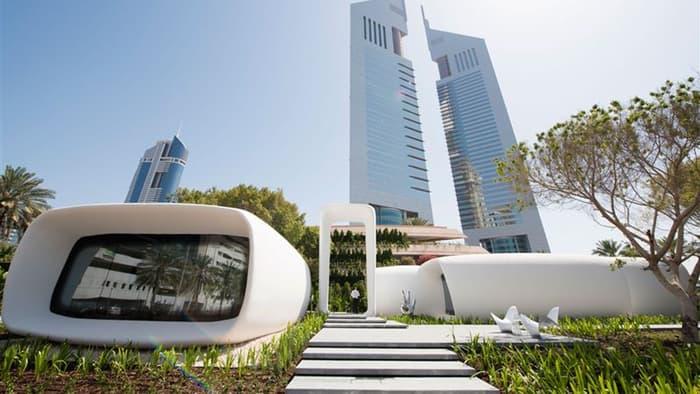 Ufficio completamente stampato in 3D a Dubai