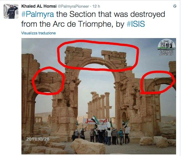 arco trionfo palmira isis