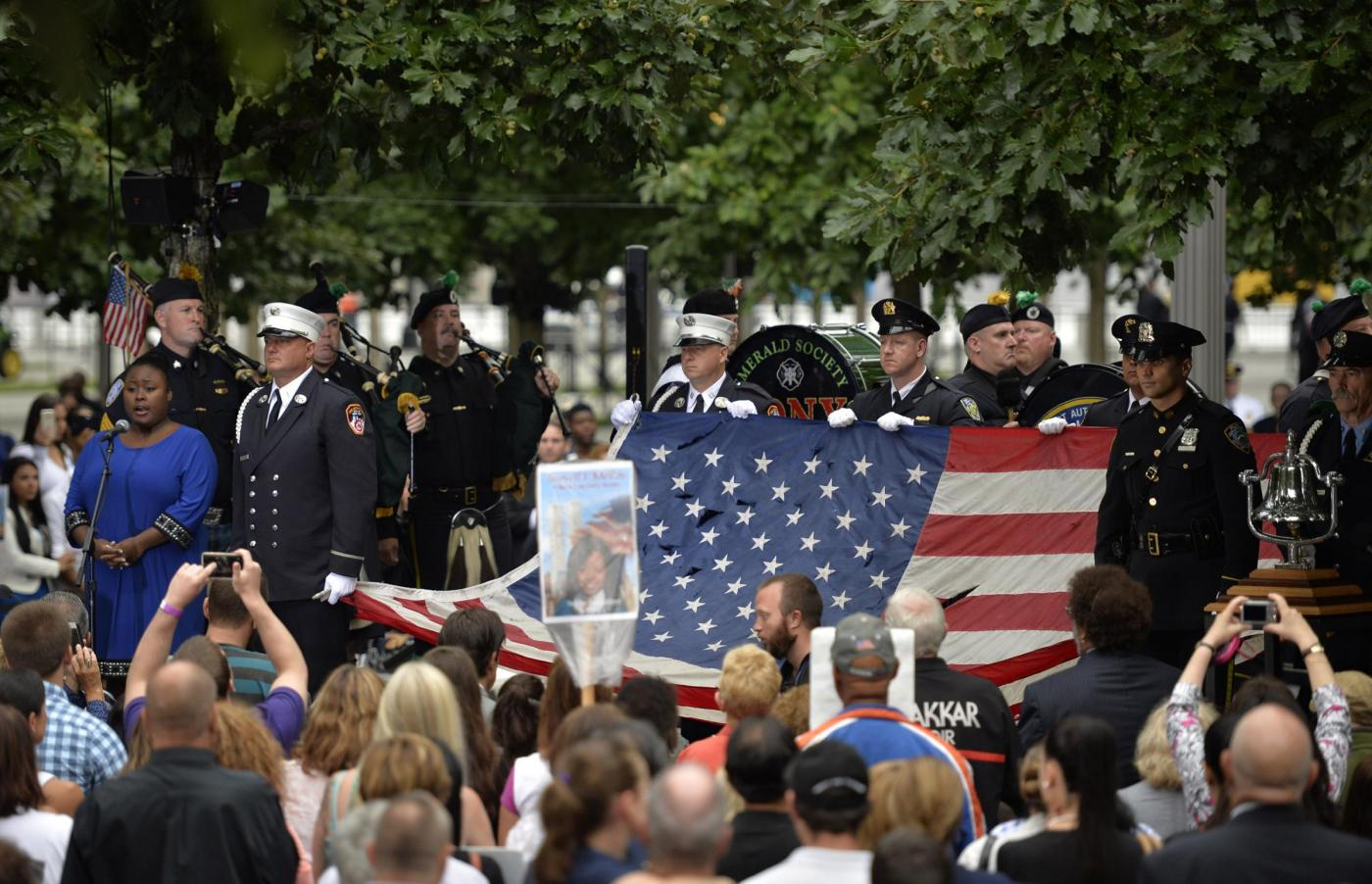 New York commemorazione 15 anniversario 9 11