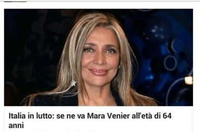 Mara Venier morta è una bufala: la conduttrice annuncia querele